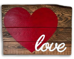 Placa ripas Love 20%OFF