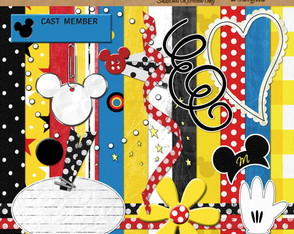 Kit Scrapbook Digital - Mouse Ville