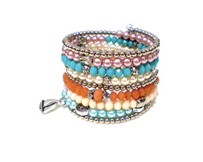 Pulseira Mola Perola Candy Colors