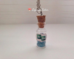 Colar Br + Ba - Breaking Bad