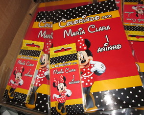 Kit colorir minnie mickey