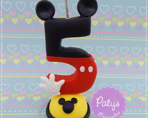 Vela decorada Mickey Mouse