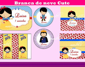 Kit Digital - Branca de neve cute