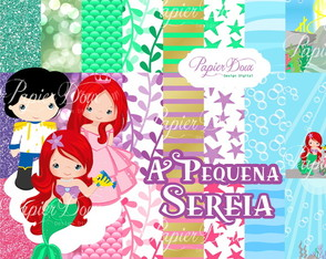 Kit Digital A Pequena Sereia Ariel