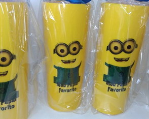 50 copos long drink 350ml Minions