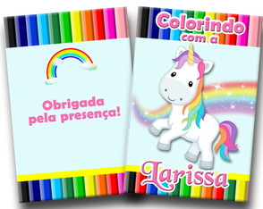 Revista colorir unicornio 14x10