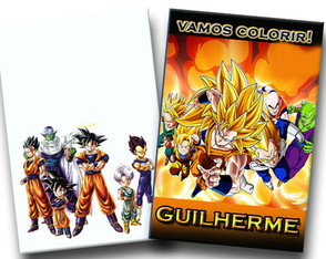 Revista colorir dragon ball z 14x10