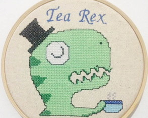 Quadro Bastidor Decorativo Tea Rex