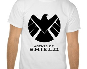 Camiseta Branca Agents of Shield Marvel