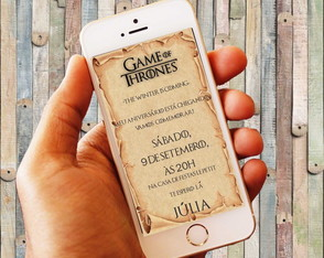 Convite Digital Game of Trones