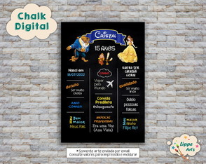 Chalk Digital A Bela e a Fera