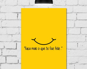 Placa Decorativa 20x30 Frase Feliz