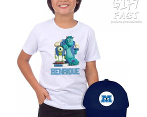 Kit Camiseta e boné Univers. Monstros