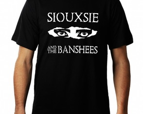 Camiseta Siouxsie and The Banshees rock gotico masculina