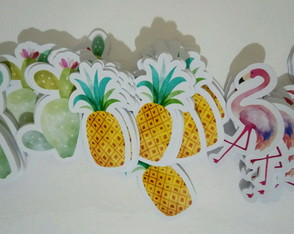 100 Apliques Flamingo Festa Tropical 3,5