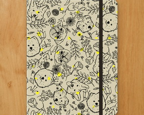 Sketchbook Cachorro Floral