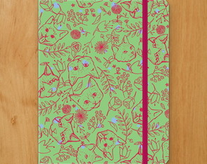 Sketchbook Gato Floral