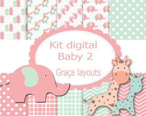 Kit Digital Papel Baby 2