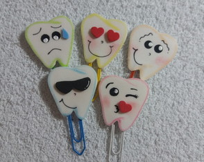 Kit clips dentinhos