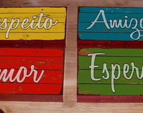 4 Quadros Decorativos Palavras Inspiradoras