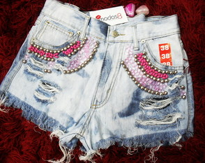 Short Bordado Customizado
