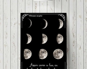 "Placa decorativa ""Fases da lua"""