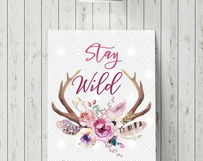 "Placa decorativa ""Stay Wild"""