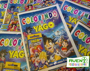 Kit de Colorir com Giz Dragon Ball GT