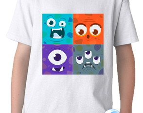 Camiseta Infantil Monsters 01
