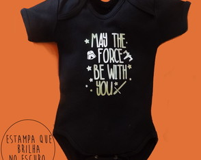 Body Preto May the Force Be with you | Star Baby