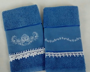 kit lavabo azul jeans bordado