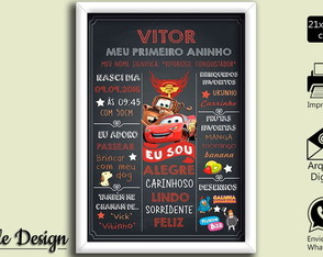 CHALKBOARD ARTE DIGITAL CARS CARROS