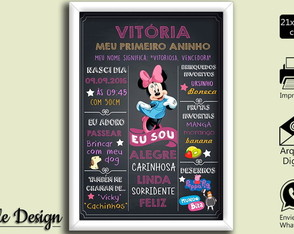 CHALKBOARD ARTE DIGITAL MINNIE