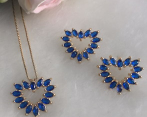 Conjunto Heart Blue