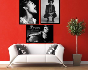 Quadros Amy Winehouse Billie Holiday Nina Simone