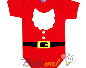 Body Roupa do Papai Noel Natal Barba