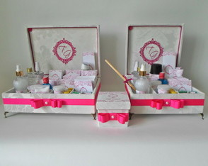 Kit Toillet Off white e Rosa pink