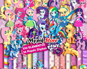Super Kit Digital My Little Pony - Scrapbook