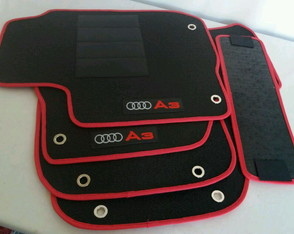 Tapete do Audi A3 Carpete Bordado