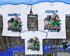 Kit Camisetas- Minecraft