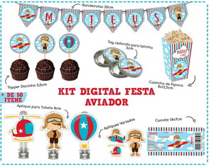 KIT DIGITAL FESTA AVIADOR