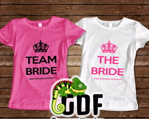 Kit 16 Camisas Personalizadas Team Bride e The Bride