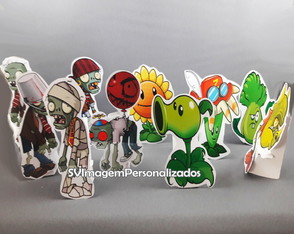 Display Enfeite de Mesa 14,5 Plants vs Zombies