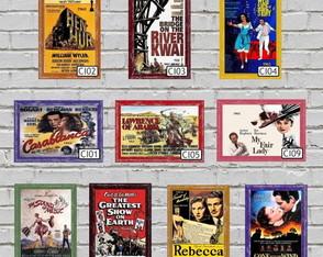 10 Quadros Decorativos Filmes Antigos