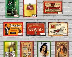 10 Quadros Decorativos Vintage Cerveja 1