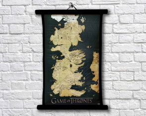 Pergaminho Game of Thrones - Mapa de westeros