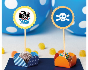 Toppers para decorar Doces Festa Pirata