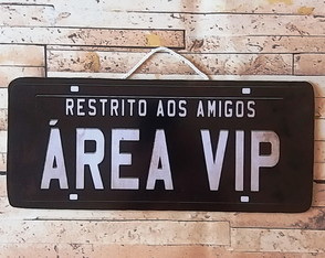 Placa Decorativa Amigos Área Vip