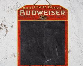 Quadro Negro Lousa Budweiser