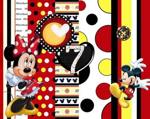 Mega kit Kit Scrapbook Digital. Mickey e Minnie 300DPI